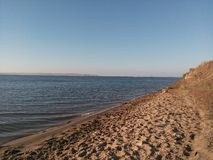 Piasek, plaża, plaża, kąpanie, odpoczynek, spokój Zdjęcie Stock