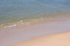 Piasek plaża na słonecznym dniu Fotografia Royalty Free