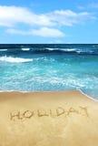 piasek plażowy pisemne wakacyjne Zdjęcie Royalty Free