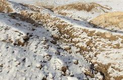 Piasek pod śniegiem Zdjęcie Stock