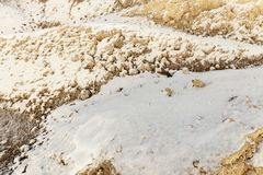 Piasek pod śniegiem Obrazy Stock