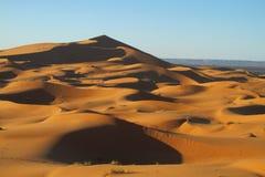 Piasek pustynne diuny Sahara Fotografia Royalty Free