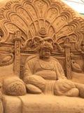 Piasek rzeźba Maharaja Srikant Wodeyar w Mysore Zdjęcie Royalty Free