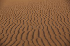 Piasek rzeźba na pustyni Zdjęcie Royalty Free