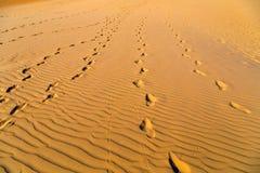 Piasek wydmowa pustynia Zdjęcie Royalty Free