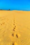 Piasek wydmowa pustynia Obrazy Royalty Free