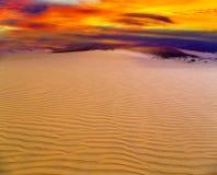 Piasek wydmowa pustynia Zdjęcia Royalty Free