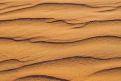 Piasek z fala w czerwieni pustyni Obraz Royalty Free