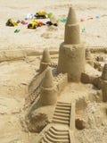 piasek z zamku wieży zabawki ciężarówki Obraz Royalty Free