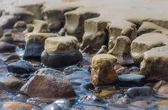 Piasków kamieni woda Zdjęcie Stock