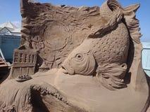 Piaska festiwalu ryba Anglia fotografia stock