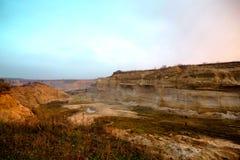 Piaska górniczy łup w Ukraina zdjęcia royalty free
