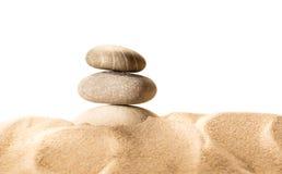 Piaska i morza kamienie w zbliżeniu Zdjęcie Royalty Free