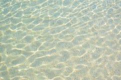 Piaska i wody tło Obrazy Royalty Free