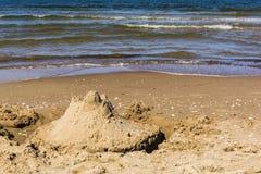 Piaska kasztel morzem Obraz Royalty Free
