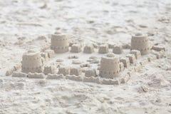 Piaska kasztel na plaży Obrazy Royalty Free