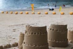 Piaska kasztel na plaży Zdjęcia Stock