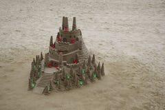 Piaska kasztel w plaży Zdjęcia Stock