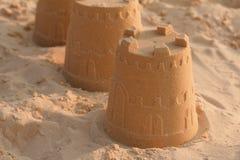 Piaska kasztelu plaża Zdjęcie Stock