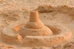 Piaska kasztelu plaża Obrazy Royalty Free