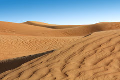 Piaska krajobraz w pustyni Obrazy Royalty Free