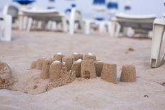 Piaska kulichiki na plaży Zdjęcia Royalty Free