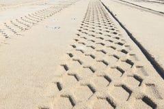 piaska ślad Zdjęcia Stock