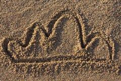 piaska obłoczny znak Obraz Stock