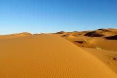 Piaska pustynny piękny krajobraz Zdjęcia Stock