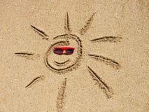 piaska rysunkowy słońce Fotografia Royalty Free