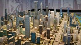 Piaska talerza model Pekin Środkowy dzielnica biznesu, Chiny zdjęcie royalty free