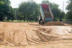 Piaska usypu ciężarówka Zdjęcie Stock