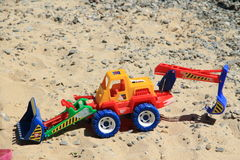 piaska zabawki ciężarówka Obraz Stock