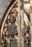 Piaskowów łękowaci okno gothical kościół fotografia royalty free