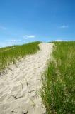 Piaskowata ścieżka przy plażą Zdjęcia Royalty Free