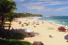 Piaskowata Boucan Canot plaża, spotkanie Zdjęcia Royalty Free