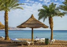 Ranku widok na Czerwonym morzu, Eilat Zdjęcia Stock