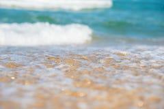 Piaskowata plaża i błękitny ocean Obraz Stock