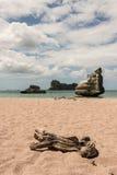 Piaskowata plaża przy klacz nogi zatoczką Obrazy Royalty Free