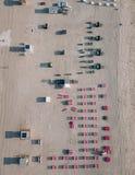 Piaskowata plaża z słońc loungers, Miami plaża, Floryda, usa Fotografia Royalty Free
