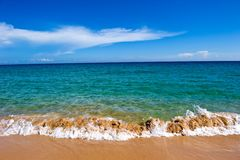 Piaskowata plaża Zdjęcia Royalty Free