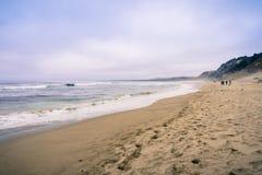 Piaskowata plaża na Pacyficznego oceanu linii brzegowej Zdjęcie Stock