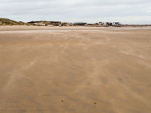 Piaskowata plaża przy Camber piaskami Fotografia Stock