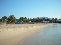Piaskowata plaża w Hammamet, Tunezja Obrazy Stock