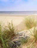 Piaskowata plaża z dennym widokiem Zdjęcie Royalty Free