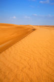 Piaskowate diuny w pustyni blisko Abu Dhabi Zdjęcia Stock