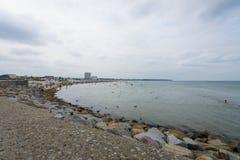 Piaskowatej plaży okręg Warnemunde Zdjęcie Stock