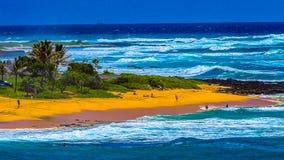 Piaskowatej plaży park Hawaje fotografia royalty free
