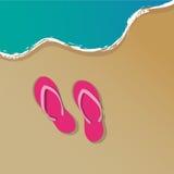 Piaskowatej plaży tło ilustracja wektor