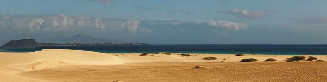 Piaskowatej plaży panorama Zdjęcie Stock